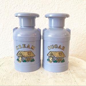 Vintage Lavender Purple Milk Jug Cream Sugar Set